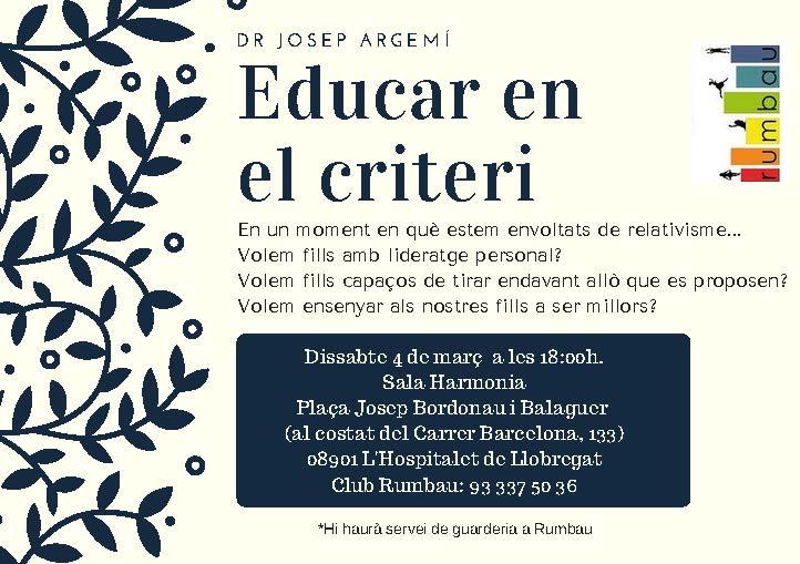 Conferència: Educar en el criteri
